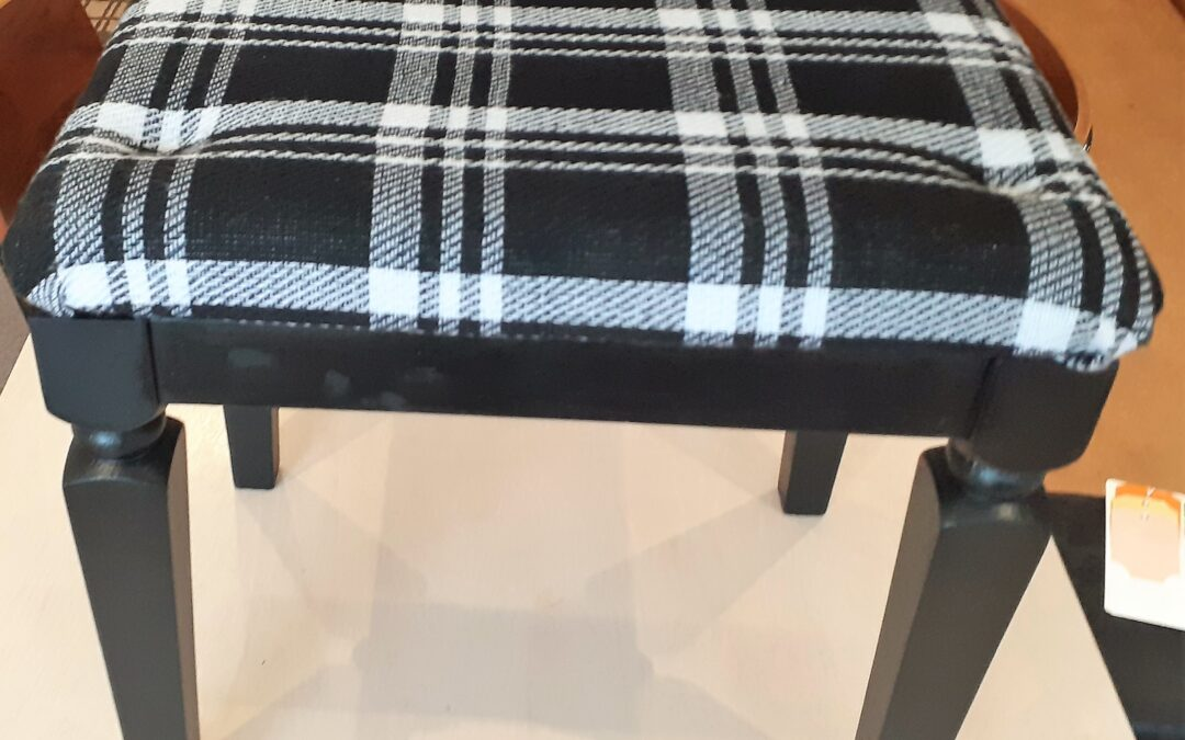 Beautiful Black Stool by Georgina